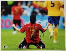 DAVID VILLA Signed 11x14 Photo #2 Auto SPAIN Barcelona NYCFC ~ Beckett BAS COA