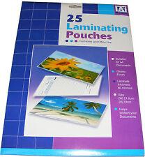 25 Paquete de A4 FUNDAS DE PLASTIFICAR Brillo Acabado Laminador laminación
