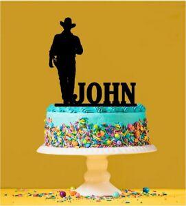 Personalised John Wayne - Cowboy Acrylic Cake Topper