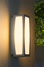 Intalite exterior IP54 MERIDIAN BOX wall and ceiling light, silver-grey, E27 25W