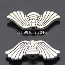 10pc Retro Tibetan Silver Angel wings Spacer Beads Pendant  Wholesale  PL493
