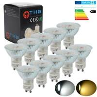 20/12/10x GU10 7W=50W SMDs LED Bulbs Spotlight Lamps Daylight /Warm White Lamp