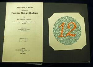 *1949 9th EDITION Dr Shinobu ISHIHARA  Tests for Colour Blindness 32 Plates VG