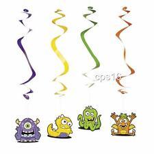 12 x Monster Party Hanging Swirls...Whirls Twirls Decorations