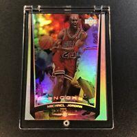 MICHAEL JORDAN 1998 UPPER DECK ENCORE #108 HOLOFOIL REFRACTOR LIKE CARD NBA MJ