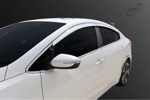 Chrome Weather shields 4p for 2013 ~ 2018 YD Kia Cerato 4dr Sedan