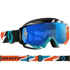 Gafas Scott Mx Hustle Motocross agrietado Naranja/Azul Turquesa Con Lente De Trabajo