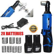 Electric Ratchet Wrench 3/8'' Drive 2x 1.5Ah Li Battery 7 Sockets Car Power Tool