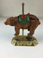Albert E. Price Bear Carousel Figurine Vintage (1980s) Brass Base Collectible