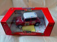 Burago 1960 Mini Cooper Monte Carlo Rally L.E. Diecast 1:16 ORIGINAL BOXED