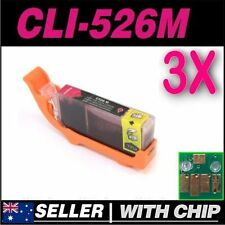 3x Magenta Ink for CANON CLI-526M for iP4850 iP4950 iX6550 MG5150 MG5250 MG5350