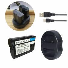 2 Battery +USB Charger for Nikon EN-EL15 D600 D610 D600E D800 D800E D810 d750 V1