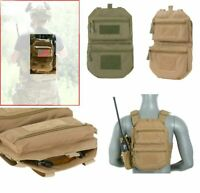 Airsoft  tactical Back Panel pouch MOLLE MC green multicamo coyote Rucksack