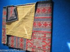 Indian Handmade Quilt Vintage Kantha Bedspread Throw Cotton Blanket Gudri twin*