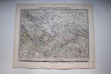 Carte de 1879, atlas Stieler,Gotha J. Perthes Sachsen, Thüringen etc N°23