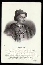 c1920 ND phot portrait Louis XI France people royalty postcard