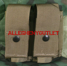 US Military MOLLE 40MM DOUBLE PYROTECHNIC GRENADE POUCH M203 Mag Coyote