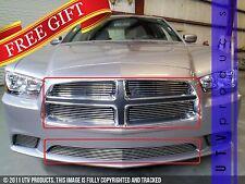 GTG 2011 - 2014 Dodge Charger 5PC Polished Overlay Billet Grille Grill Kit