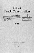 1915 Railroad Track Construction--How to Lay REAL RAILROAD Track ! !