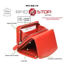 Mini-portefeuille rouge pour femme