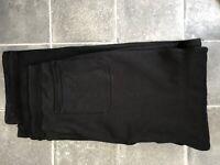 armani collezioni Black Tracksuit Jersey trousers Joggers Size XXL Used