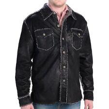 True Grit Mens Bonded Faux Jacket Black M