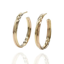 Cartier Trinity 18K Yellow, White, & Rose Gold Hoop Earrings | FJ