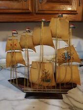 "Antique ""Le Bateau Fantome""  Display Wooden Ship Model Lamp"