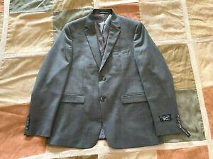 Original Penguin brushed grey wool stretch blazer sport coat 42 R mens NEW