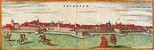 LEIPZIG - GESAMTANSICHT - Janssonius - kolorierter Kupferstich 1657