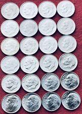 Roosevelt Dimes Set 2008 P/D - 2019 P/D Bu/Au Beautiful Set 24 Dimes.