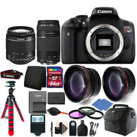 Canon EOS Rebel T6/1300D Digital SLR Camera with 4 Lens Complete Accessory Kit