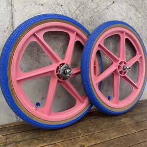 "Skyway 20"" Mags Sealed Freestyle BMX Freewheel Kenda Tire Haro GT Performer Pink"