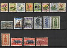 Congo Belge un lot de timbres neufs et oblitérés /T2402