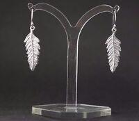 Damen Silber Ohrringe Blatt Vintage Damen Ohrhänger Ohrschmuck 925 Schmuck Boho