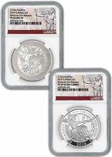 2019 G. Britain Silver Britannia 2 Pc Set 1 oz Silver NGC PF69 FR W/box SKU58175