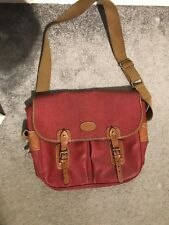 Mulberry Heritage Satchel Scotchgrain Messenger Bag ,Gorgeous Blood Red, REDUCED