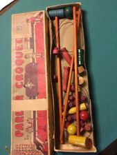 Antique Parlor Croquet Wooden Game No. 845 J. Pressman & Co. N.Y.C.