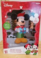 Mickey Mouse Christmas Airblown Lighted Indoor/Outdoor Inflatable 9 FT NIB