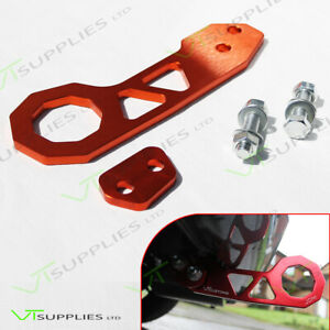 Orange Universal JDM Rear Racing Tow Hook - Top Quality Billet Aluminium