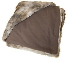 Faux Fur Throw Blanket Coyote 45 x 60 Contemporary Modern Home Living Bedroom