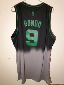 "ADIDAS NBA SWINGMAN BOSTON CELTICS RAJON RONDO ""FADEAWAY"" JERSEY 2XL"