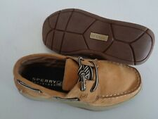"""Sperry Top-Sider """"Intrepid' Youth Boat Shoes Sz 2 M~~NO WEAR ON SOLES"""