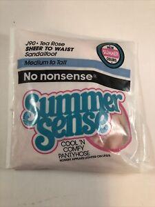 Vintage 1991 No Nonsense Summer Sense Queen J90 Tea Rose Color