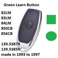 Craftsman Garage Door Opener Mini Remote Control Work With Green Learn Button