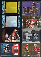 JERRY RICE LOT OF 20 DIFFERENT INSERTS PARALLEL SAN FRANCISCO 49ERS RAIDERS