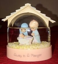 "Vintage Precious Moments Collection 1993 ""Away In A Manger"" Waterball Snow Globe"