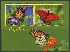 CENTRAL AFRICA 2017  BUTTERFLIES  SET OF TWO  SHEETS  OF TWO MINT NH