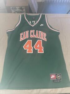 Adult Large Jermaine O'Neal #44 Nike 1999 High School Eau Claire Jersey Green
