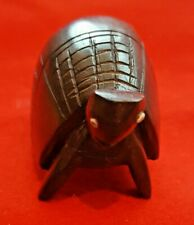 """Wooden Hand Carved Turtle Tortoise 3.75"""" Wide 1.25"""" Tall"""